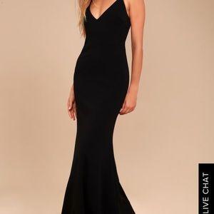 Like New Lulus Black Floor Length Gown